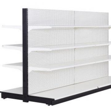 Adjustable gondola metal store display supermarket shelving