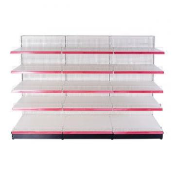 cheap retail adjustable boltless metal liquor store shelving